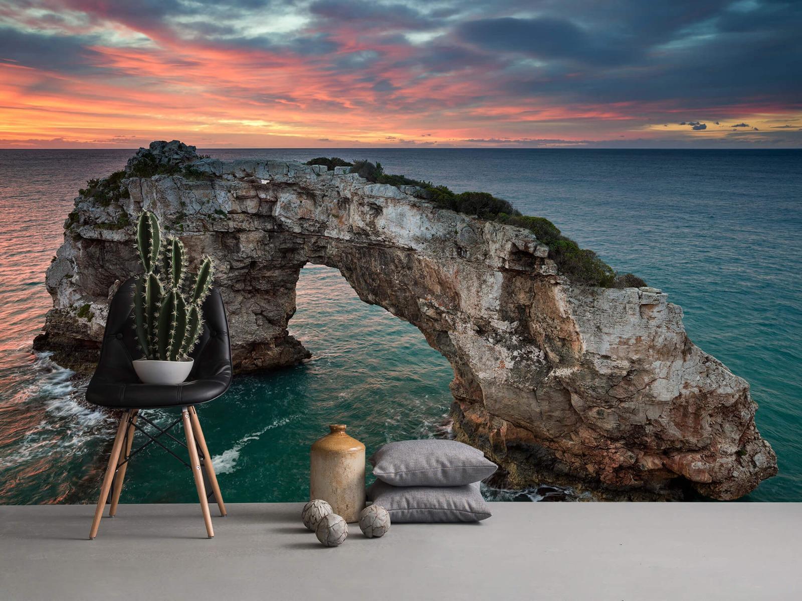 Zeeën en Oceanen - Gebogen rots in zee - Slaapkamer 13