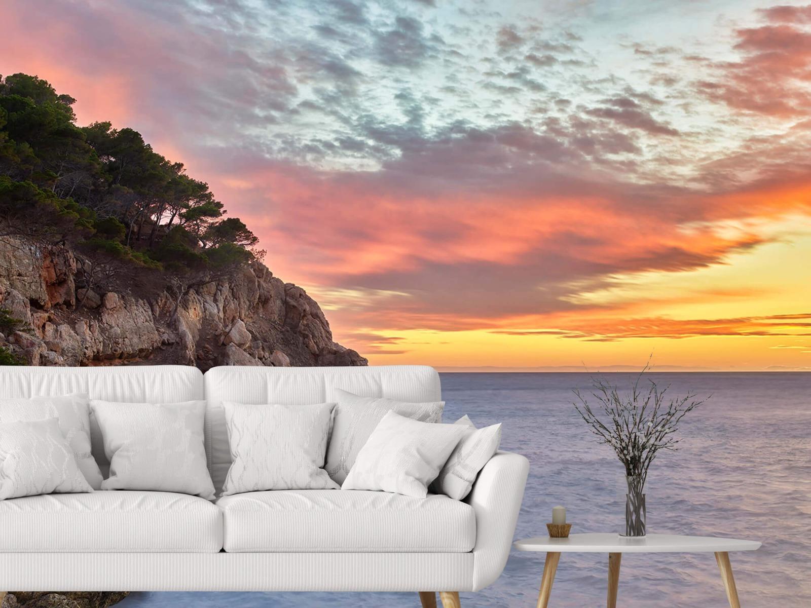 Zeeën en Oceanen - Kleurrijke zonsondergang - Slaapkamer 3