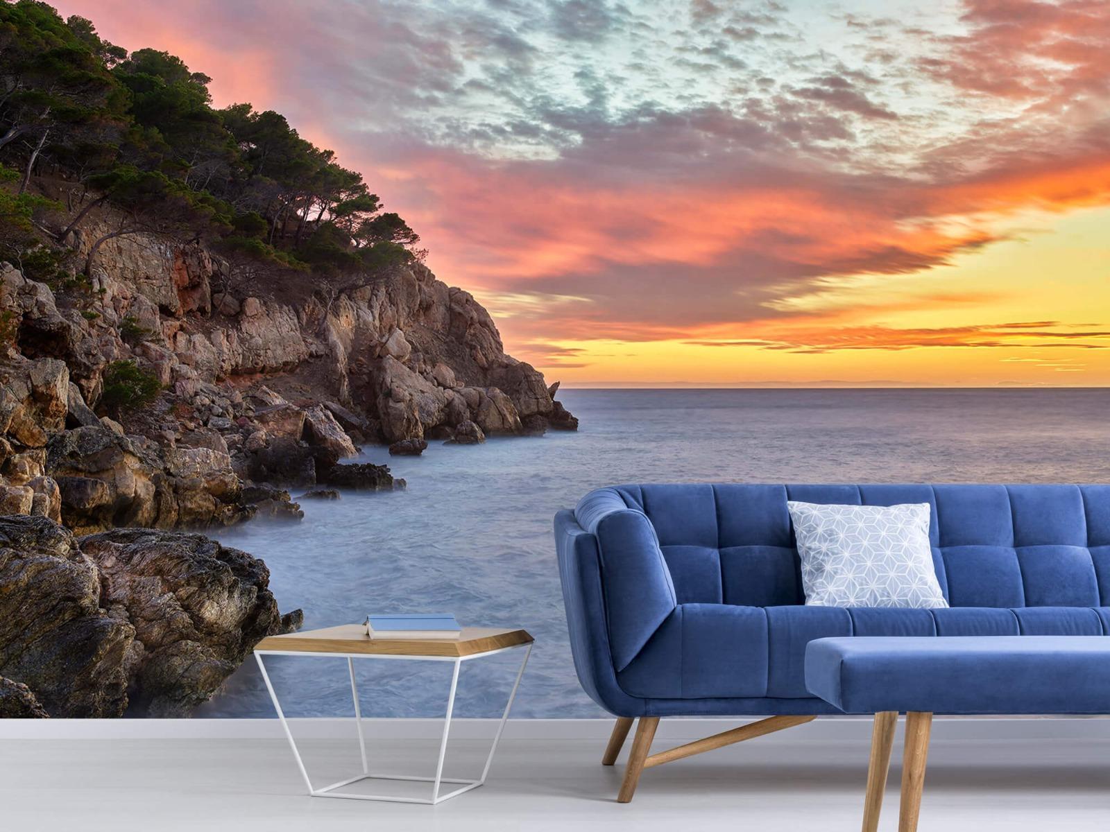 Zeeën en Oceanen - Kleurrijke zonsondergang - Slaapkamer 5