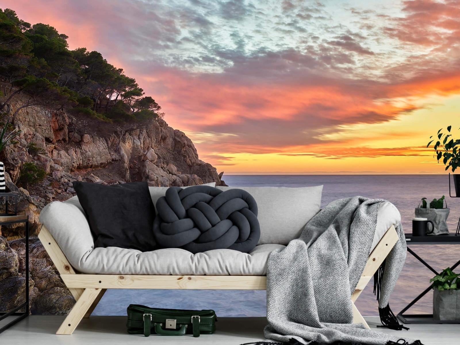 Zeeën en Oceanen - Kleurrijke zonsondergang - Slaapkamer 7