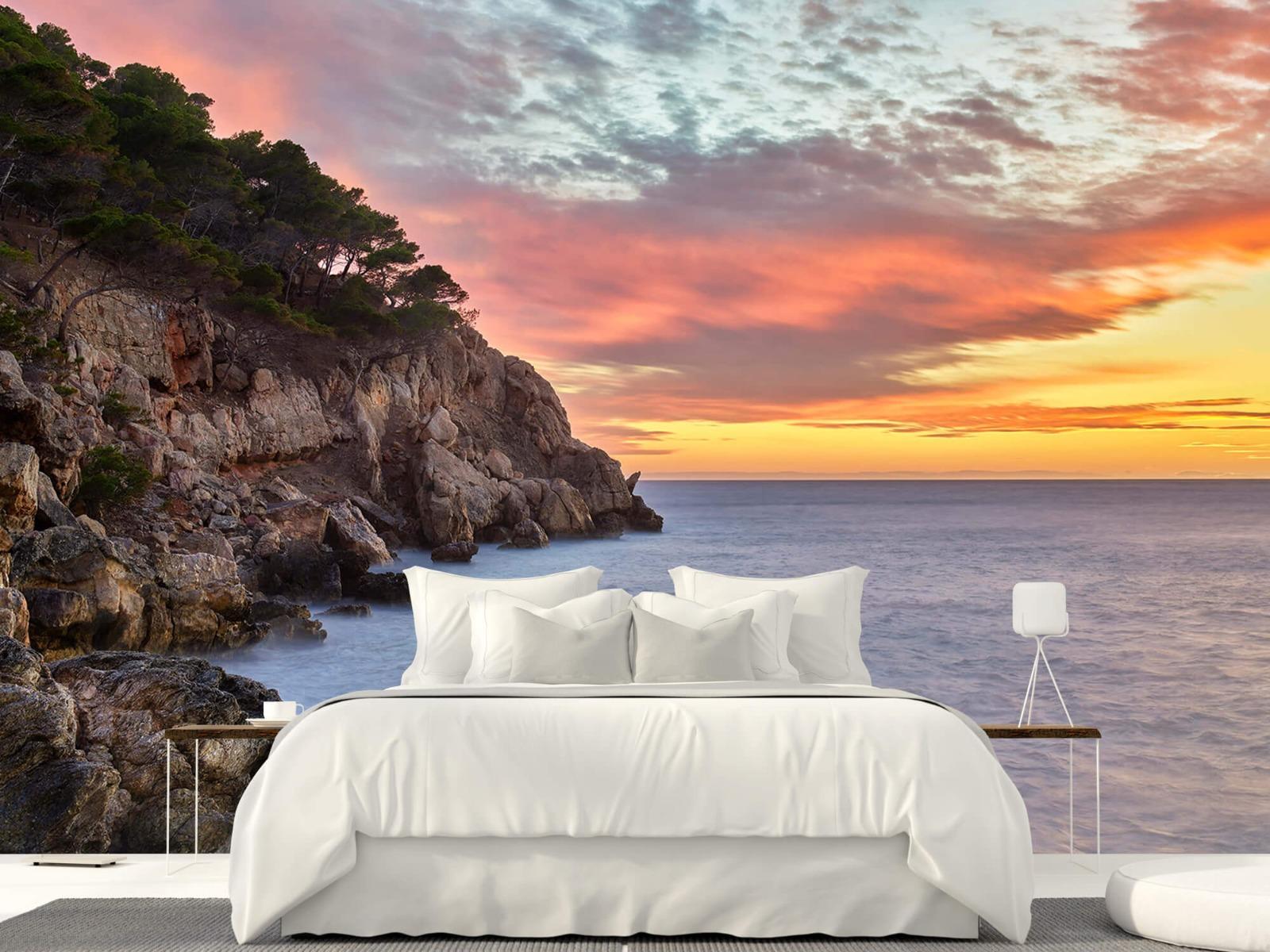Zeeën en Oceanen - Kleurrijke zonsondergang - Slaapkamer 1