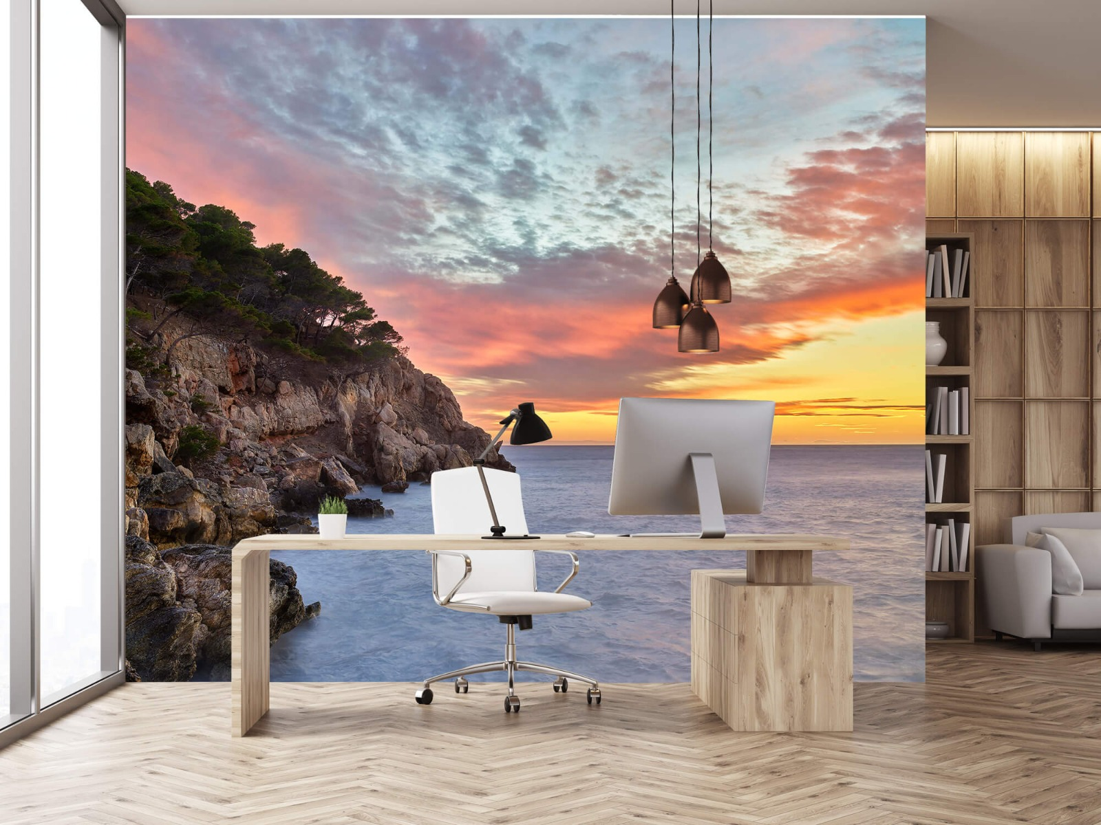 Zeeën en Oceanen - Kleurrijke zonsondergang - Slaapkamer 24
