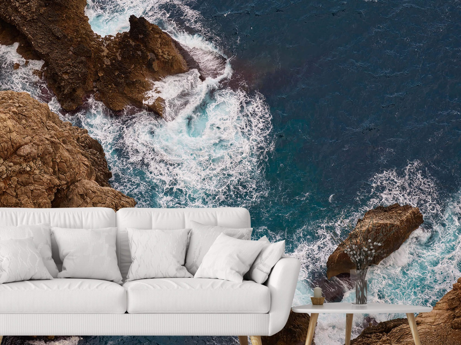 Zeeën en Oceanen - Kust rotsen - Slaapkamer 2