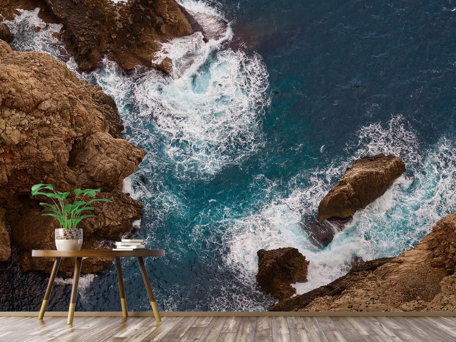 Zeeën en Oceanen - Kust rotsen - Slaapkamer 3