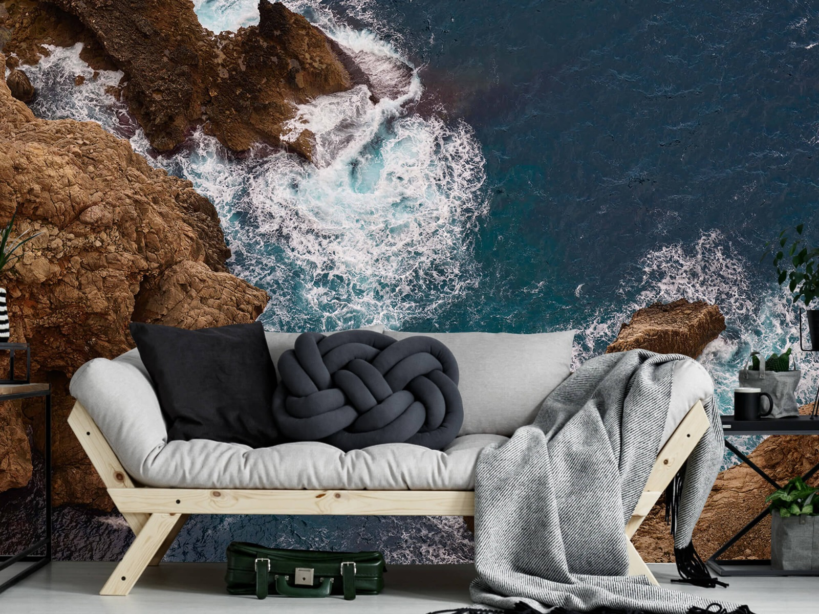 Zeeën en Oceanen - Kust rotsen - Slaapkamer 6