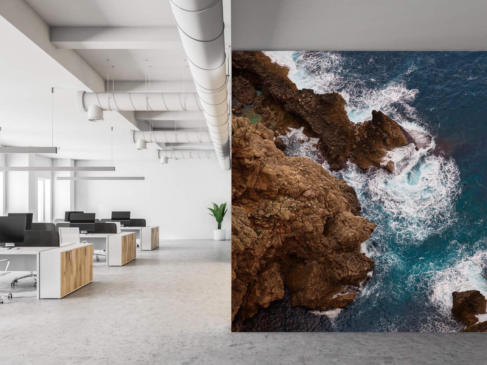 Zeeën en Oceanen - Kust rotsen - Slaapkamer 21