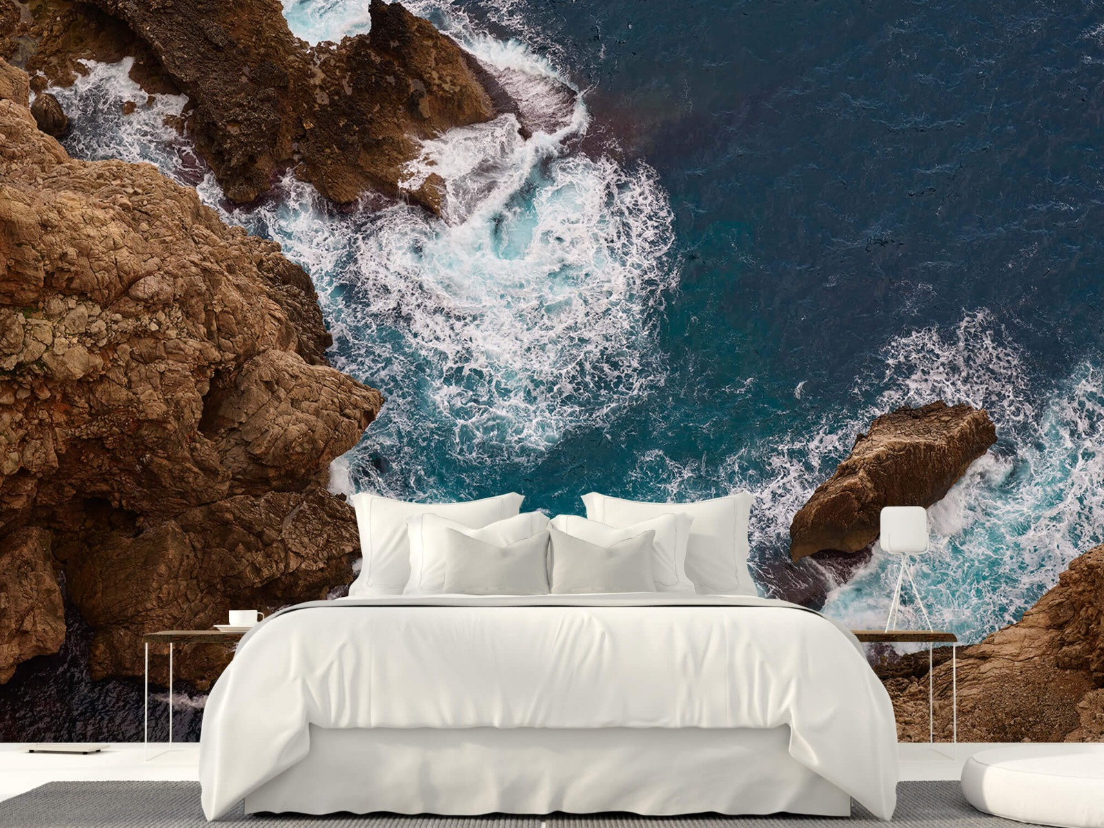 Zeeën en Oceanen - Kust rotsen - Slaapkamer 23