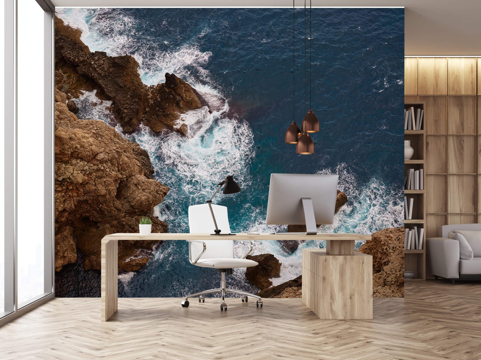 Zeeën en Oceanen - Kust rotsen - Slaapkamer 24