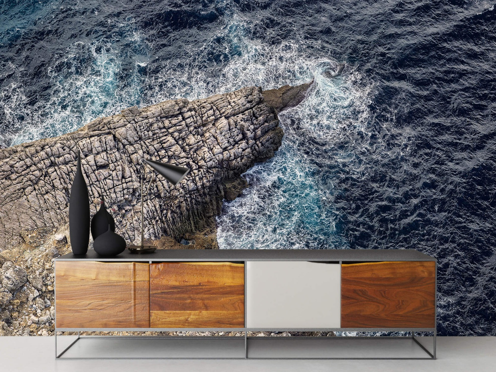 Zeeën en Oceanen - Rotspunt aan de kust - Slaapkamer 16