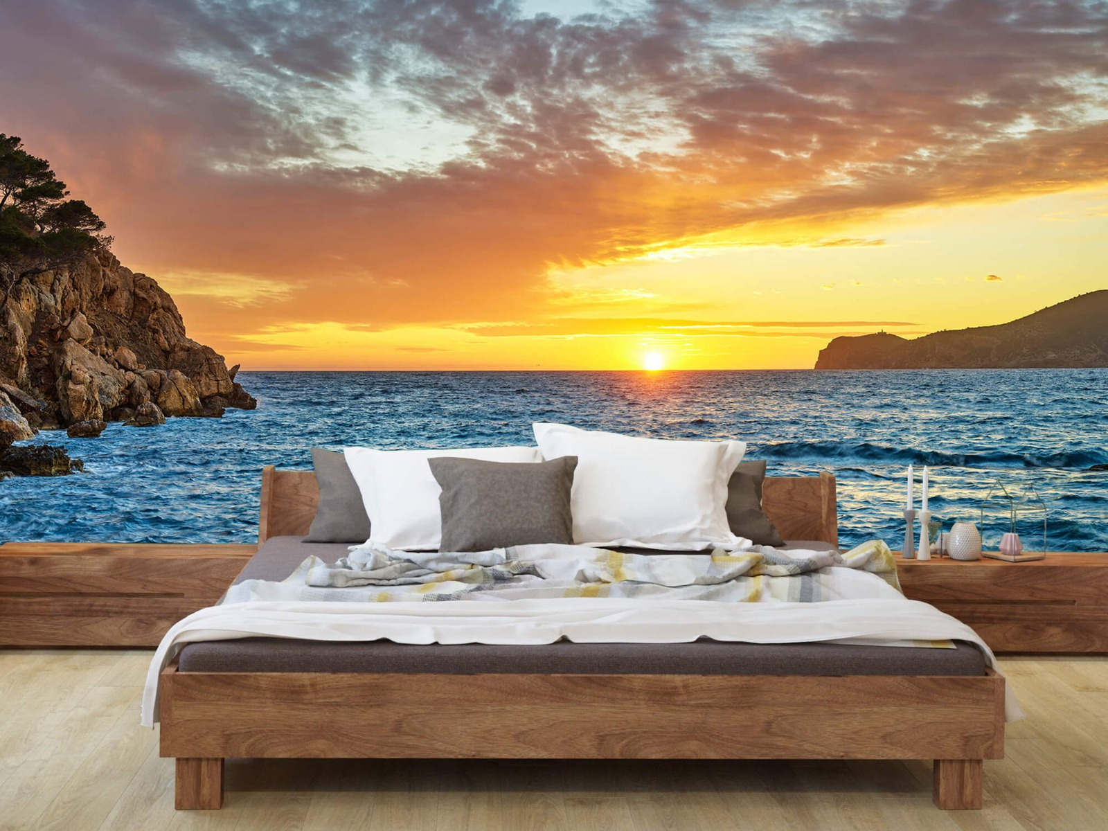 Zon - Zonsondergang op een eiland - Slaapkamer 8
