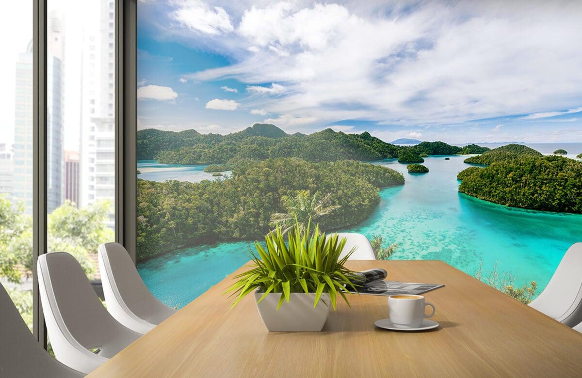 Zomer behang - Tropische lagunes - Slaapkamer 2