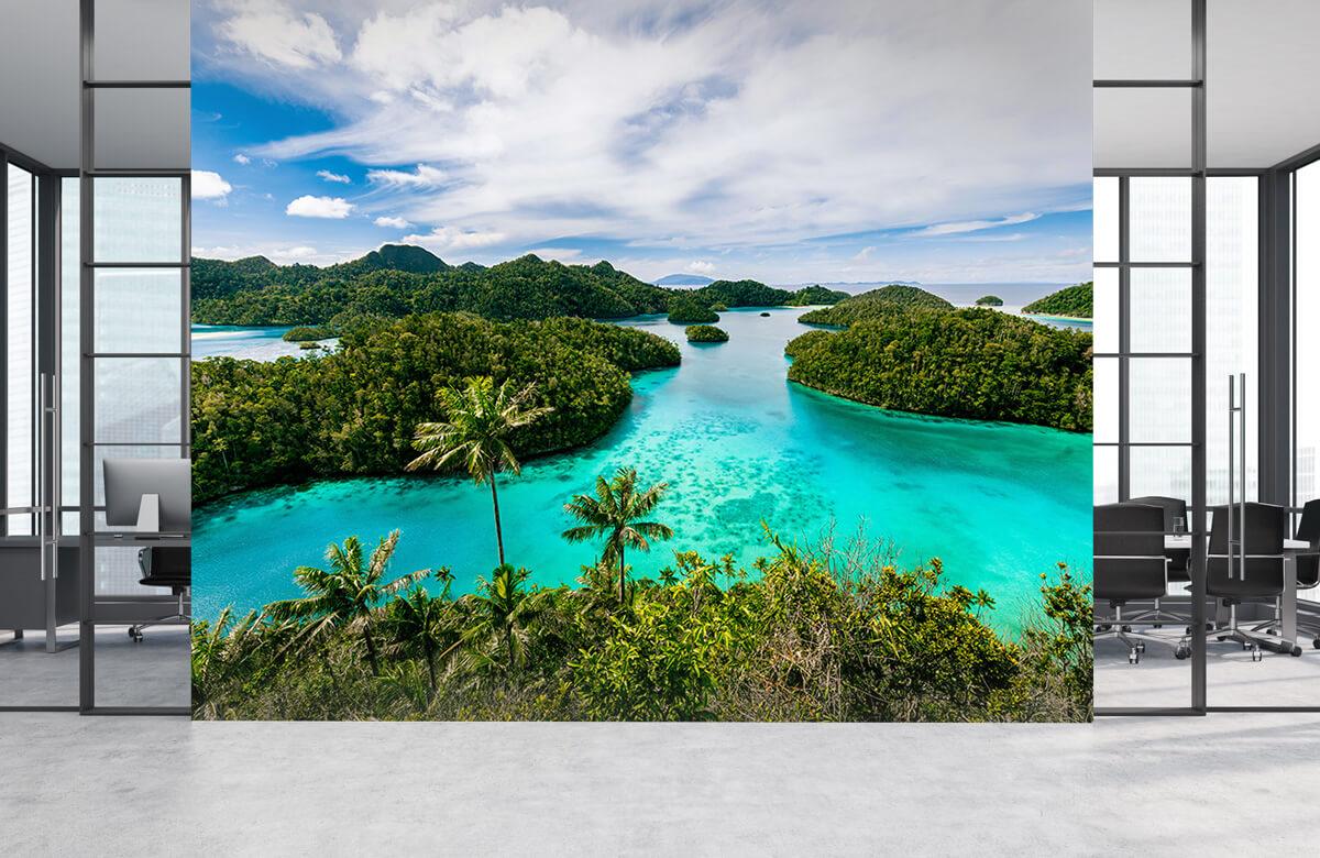 Zomer behang - Tropische lagunes - Slaapkamer 3