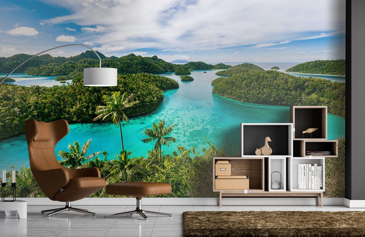 Zomer behang - Tropische lagunes - Slaapkamer 4