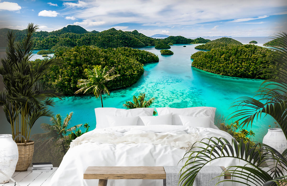 Zomer behang - Tropische lagunes - Slaapkamer 6
