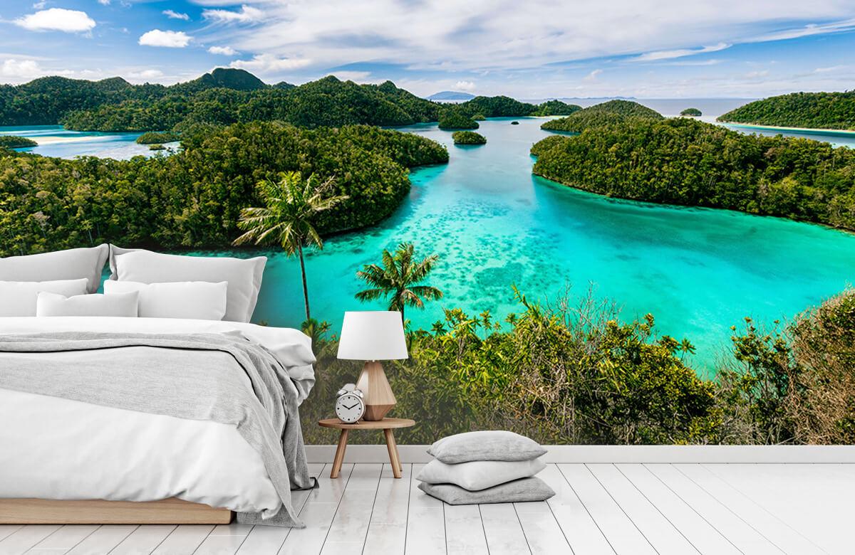 Zomer behang - Tropische lagunes - Slaapkamer 7