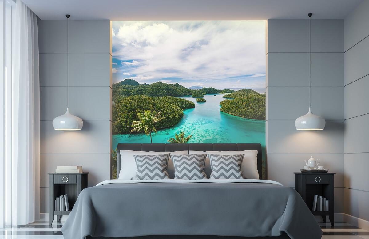 Zomer behang - Tropische lagunes - Slaapkamer 8