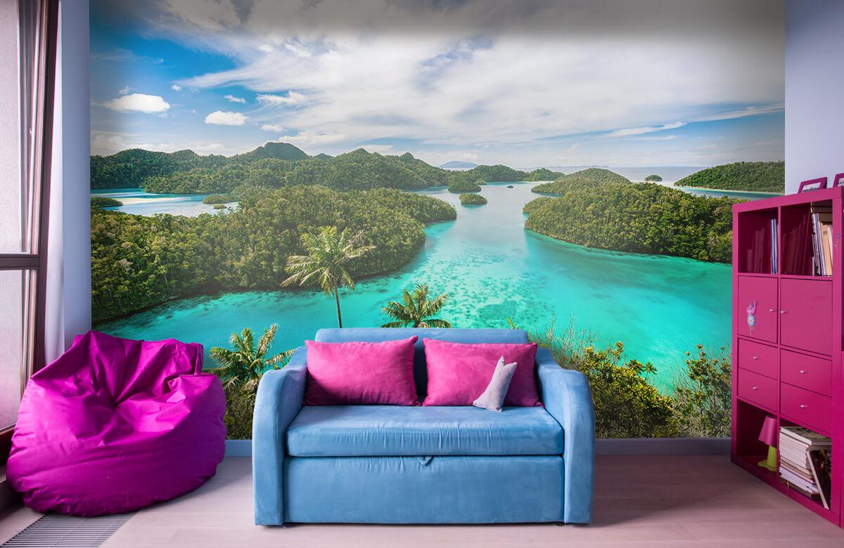 Zomer behang - Tropische lagunes - Slaapkamer 10