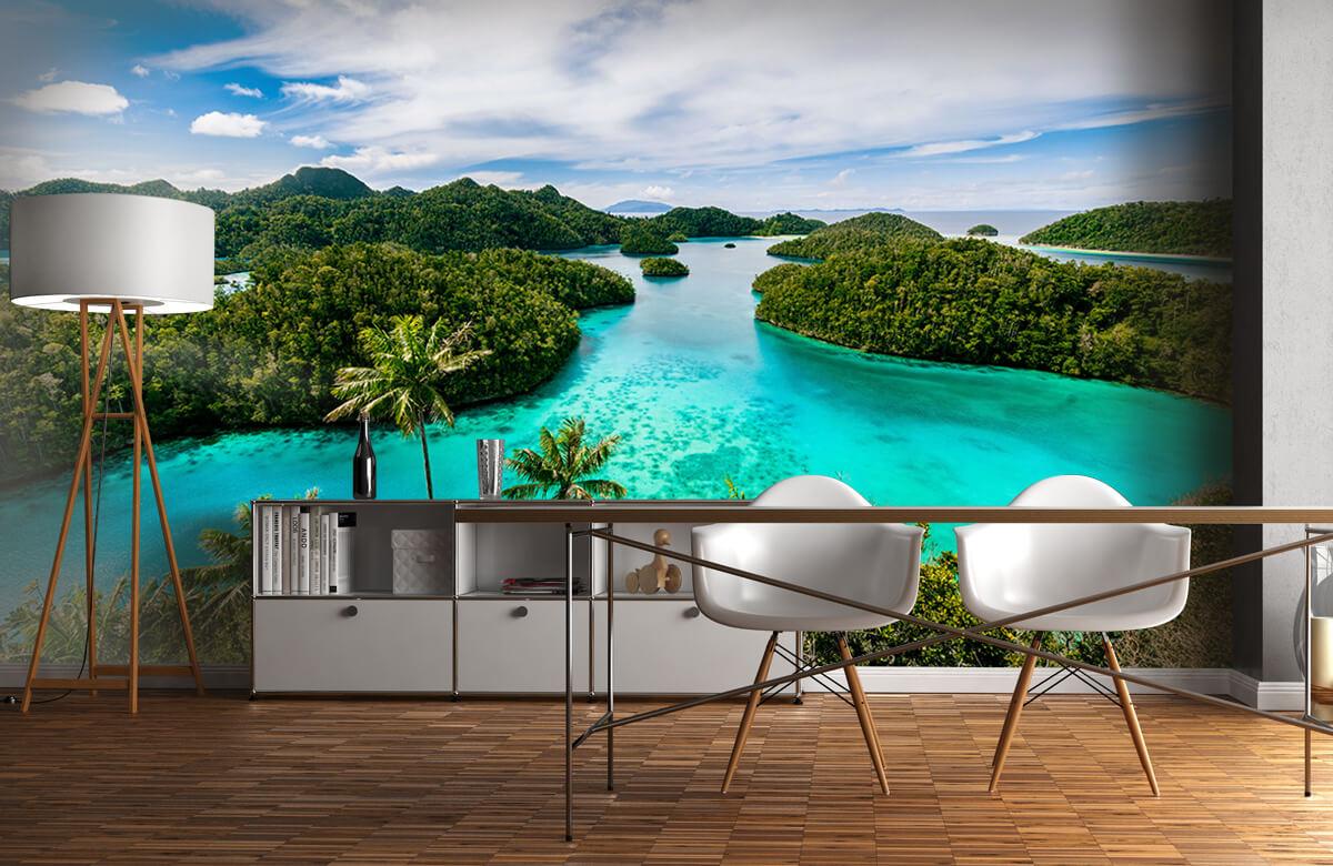 Zomer behang - Tropische lagunes - Slaapkamer 11