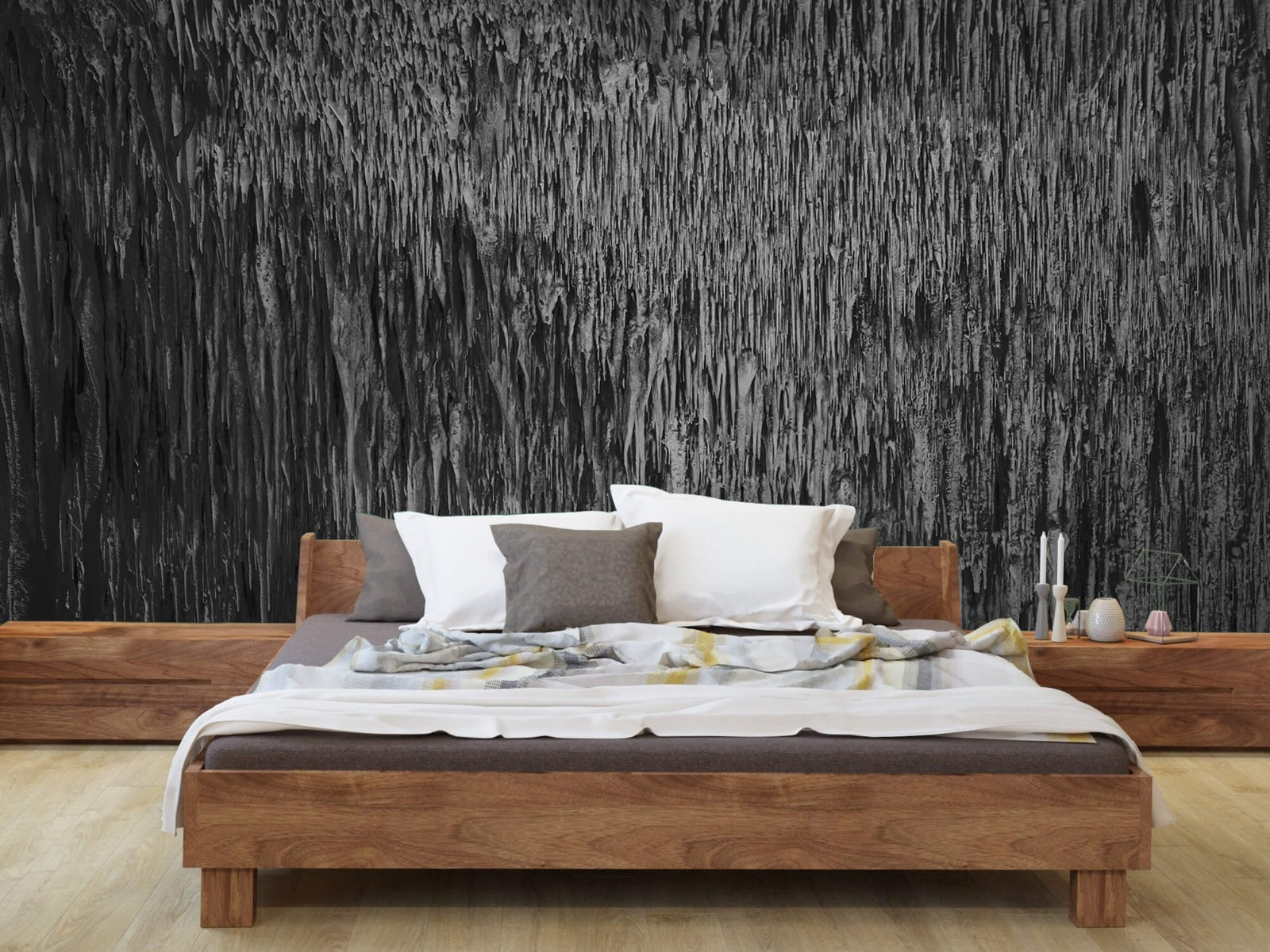 Zwart Wit behang - Druipstenen - Kantoor 7