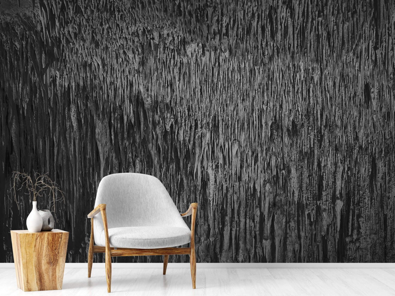 Zwart Wit behang - Druipstenen - Kantoor 18