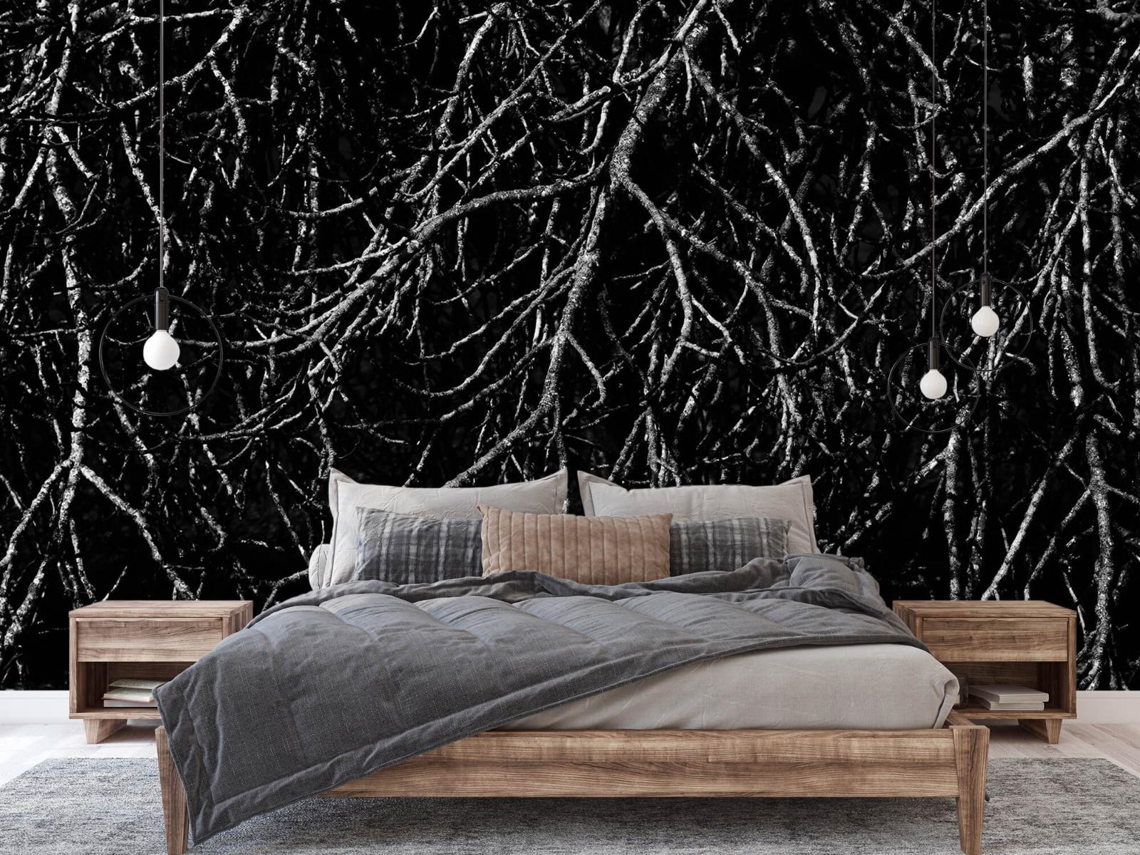 Zwart Wit behang - Boomtakken in zwart wit - Magazijn 2