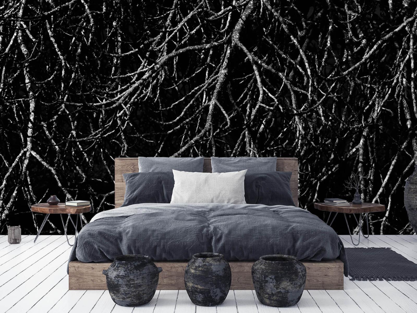 Zwart Wit behang - Boomtakken in zwart wit - Magazijn 6