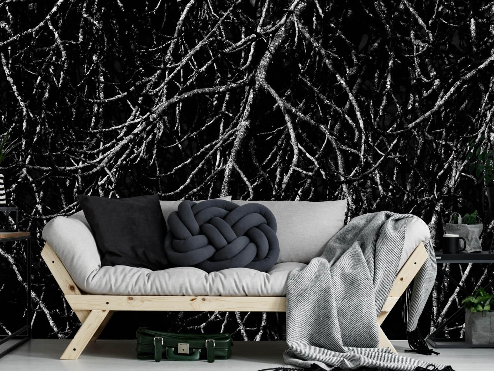 Zwart Wit behang - Boomtakken in zwart wit - Magazijn 7