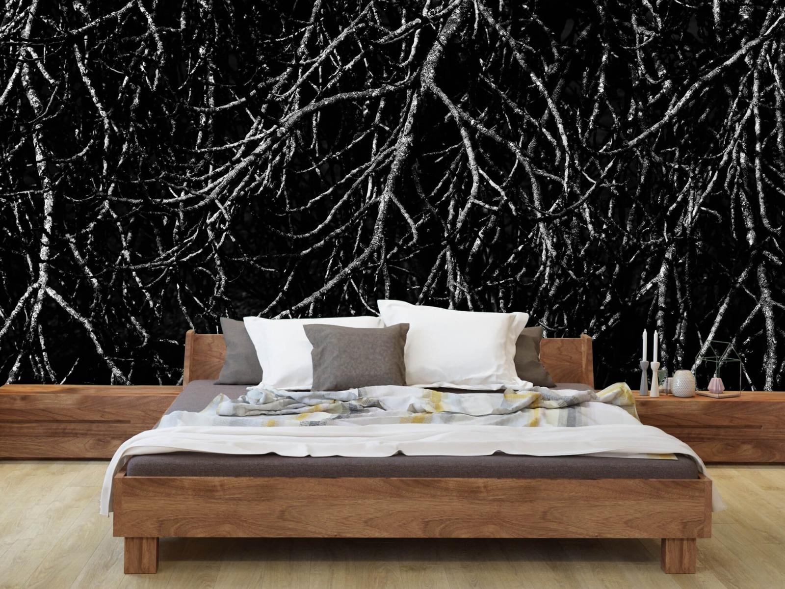 Zwart Wit behang - Boomtakken in zwart wit - Magazijn 8