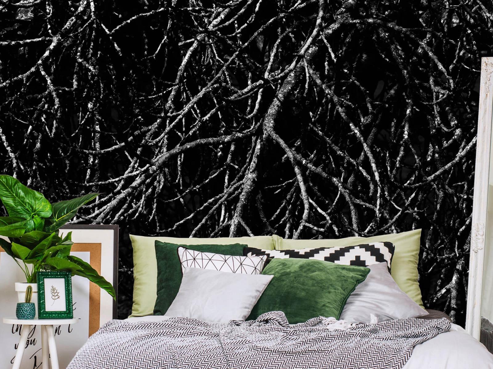 Zwart Wit behang - Boomtakken in zwart wit - Magazijn 13