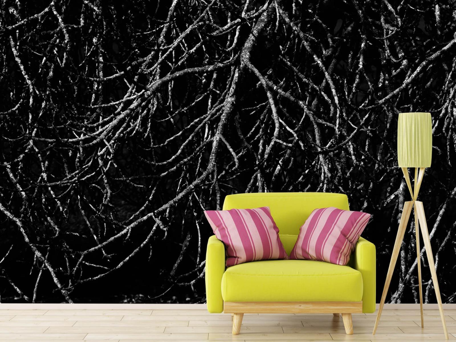 Zwart Wit behang - Boomtakken in zwart wit - Magazijn 18