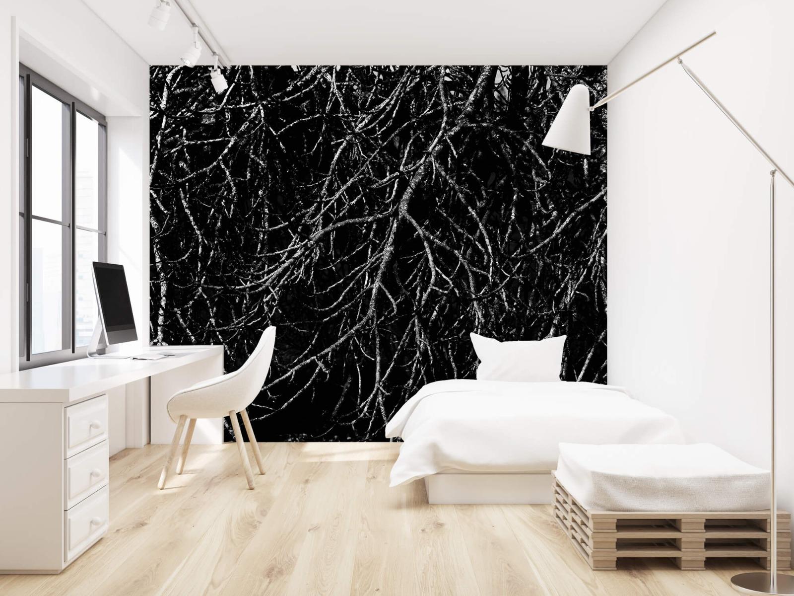 Zwart Wit behang - Boomtakken in zwart wit - Magazijn 22