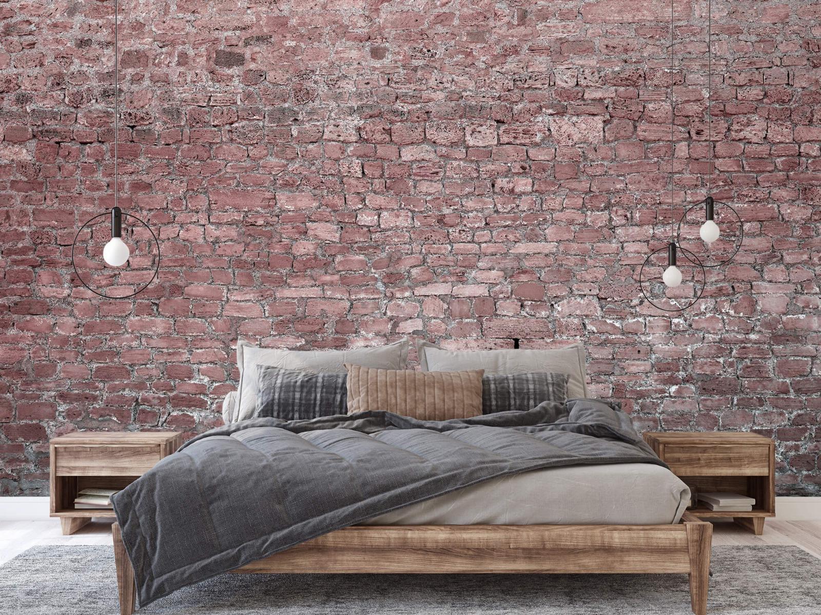 Steen behang - Muur van oude stenen - Tienerkamer 1