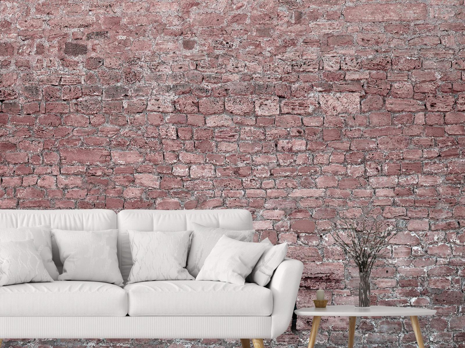 Steen behang - Muur van oude stenen - Tienerkamer 2