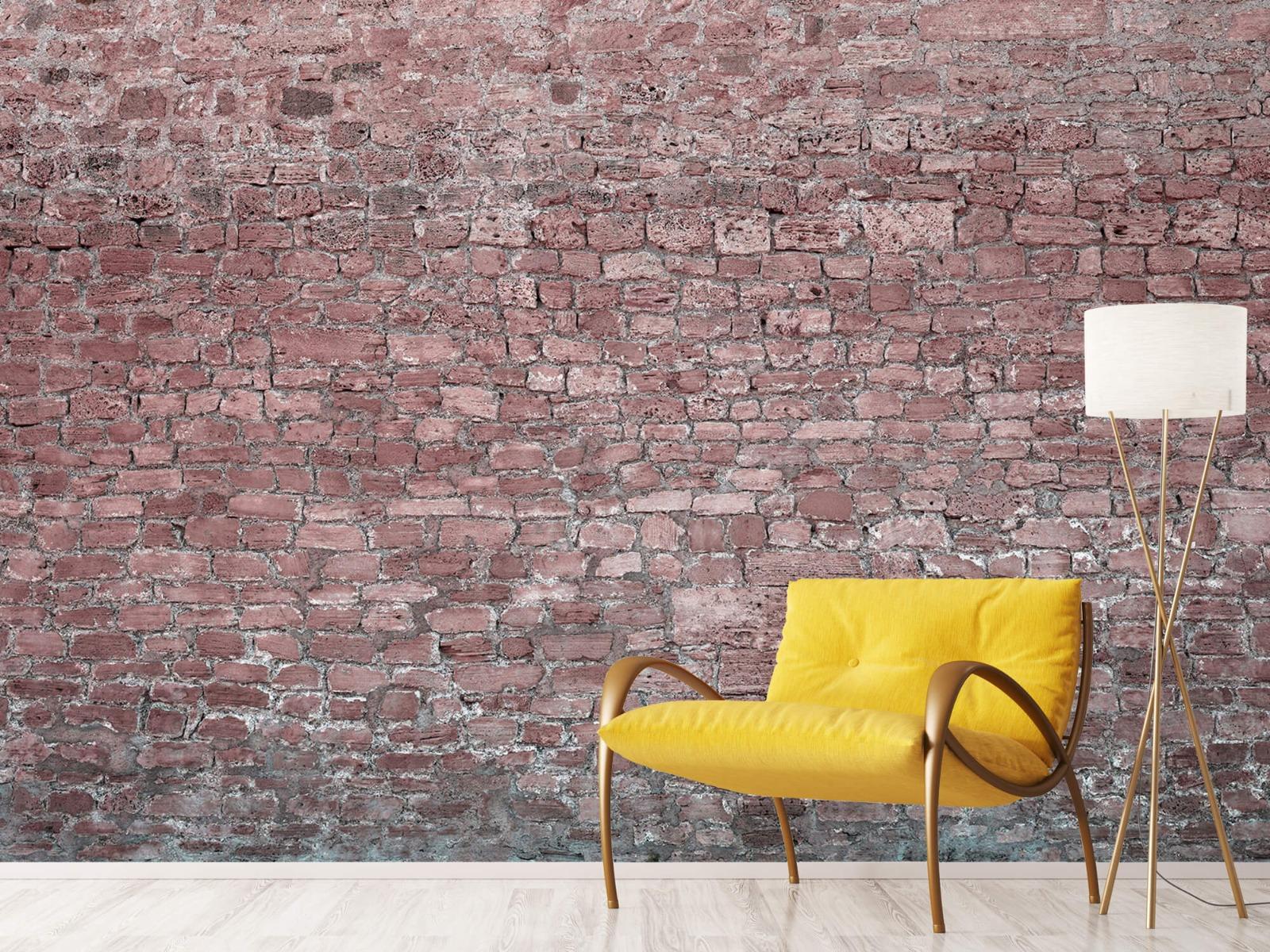 Steen behang - Muur van oude stenen - Tienerkamer 10
