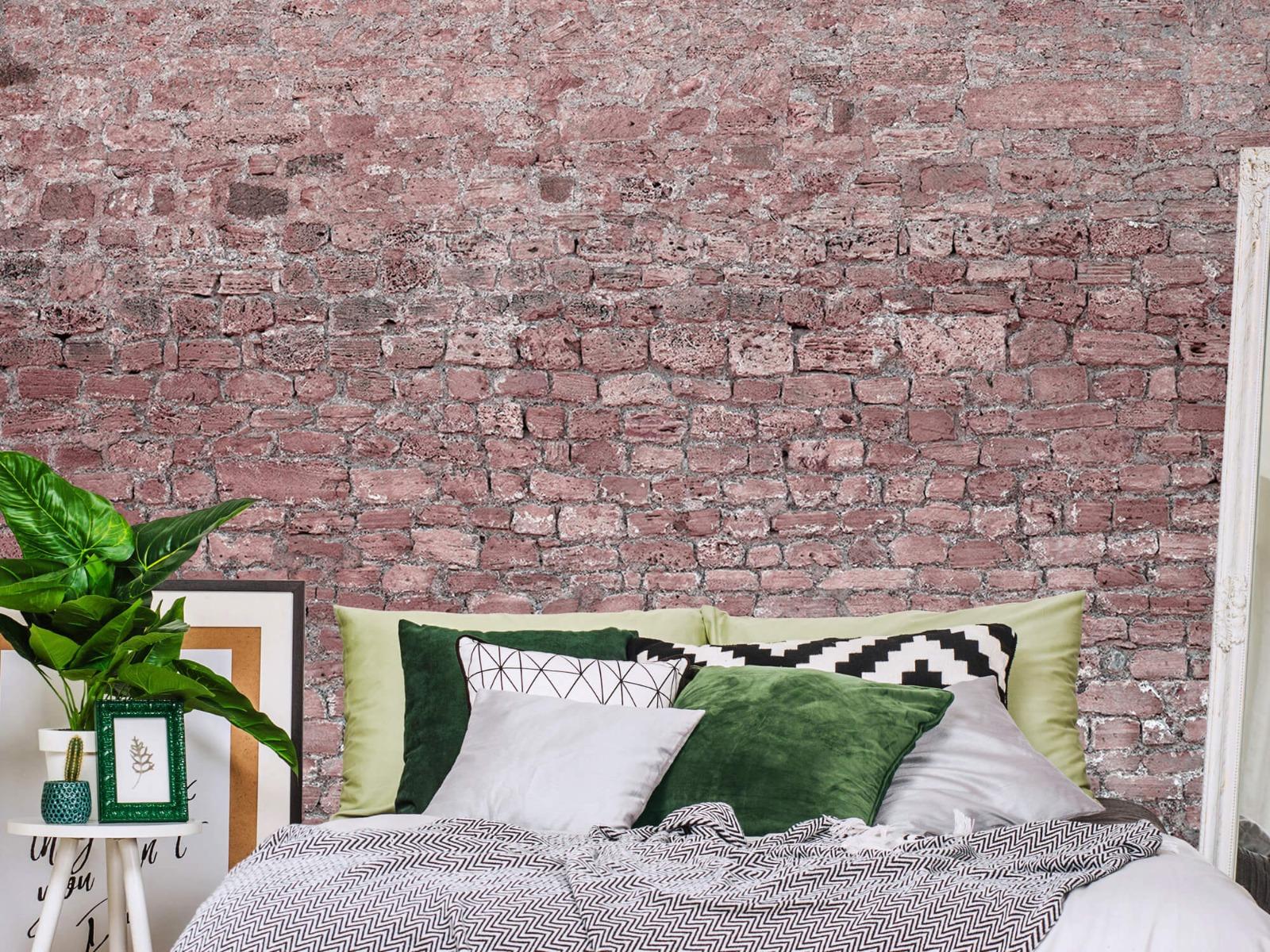 Steen behang - Muur van oude stenen - Tienerkamer 12