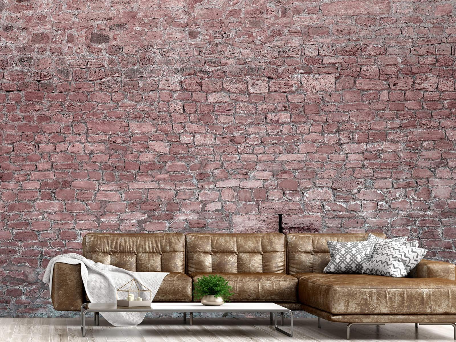 Steen behang - Muur van oude stenen - Tienerkamer 14