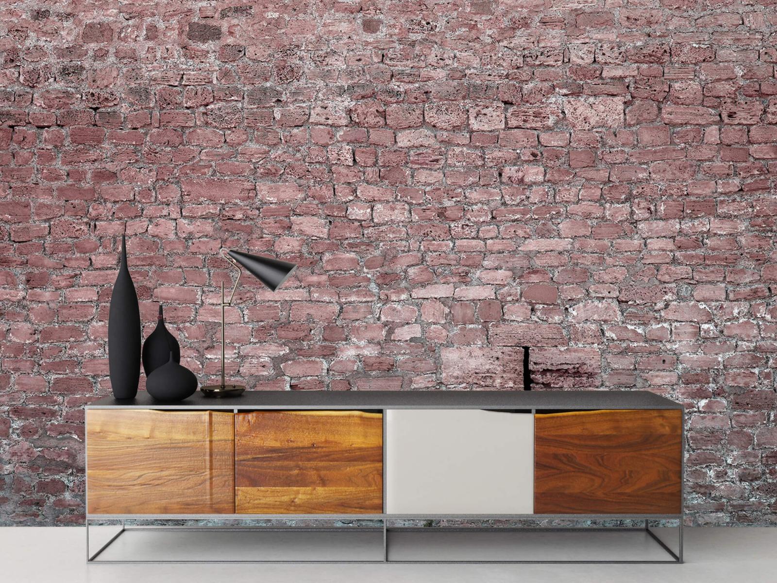 Steen behang - Muur van oude stenen - Tienerkamer 16