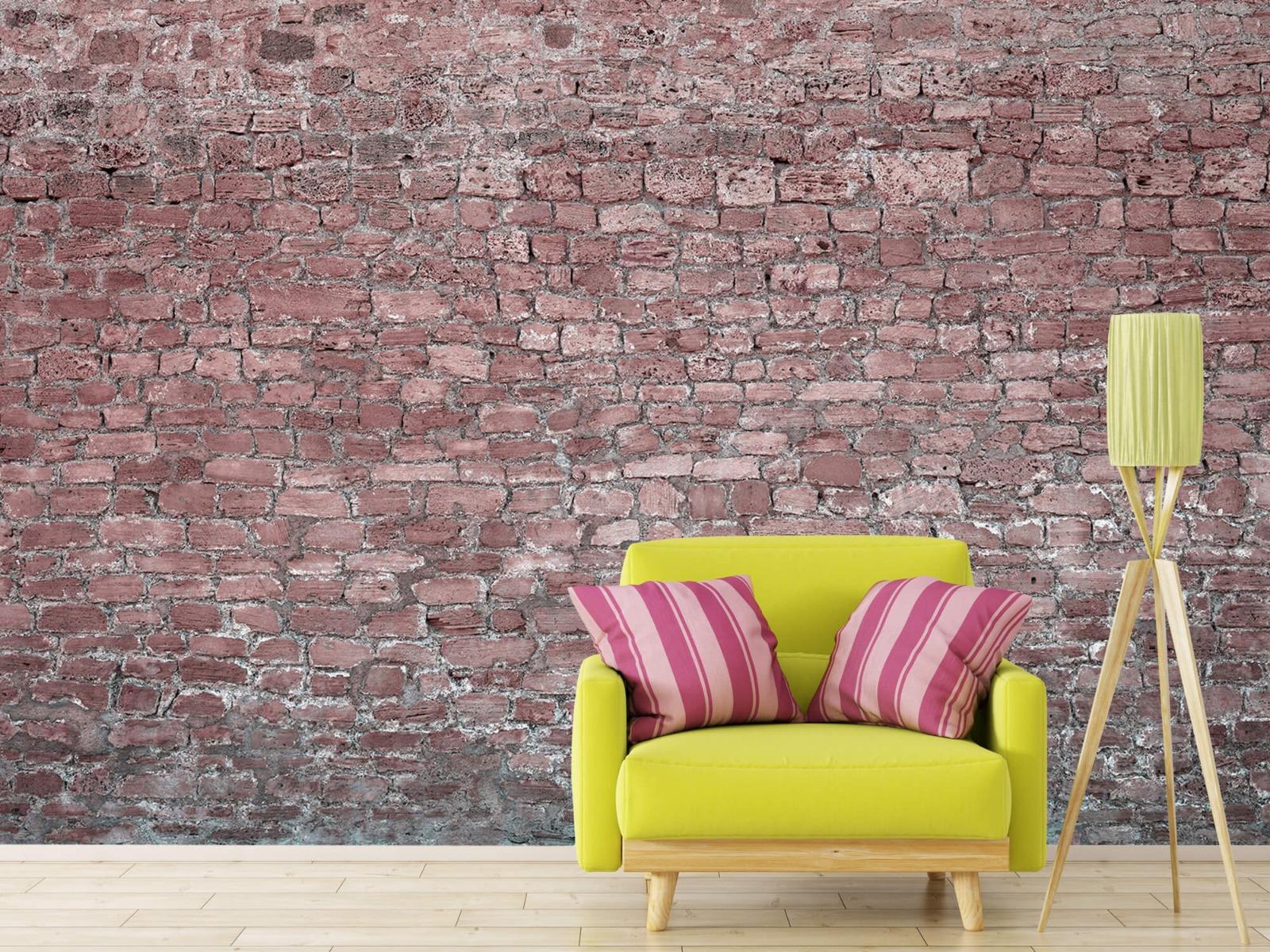 Steen behang - Muur van oude stenen - Tienerkamer 17