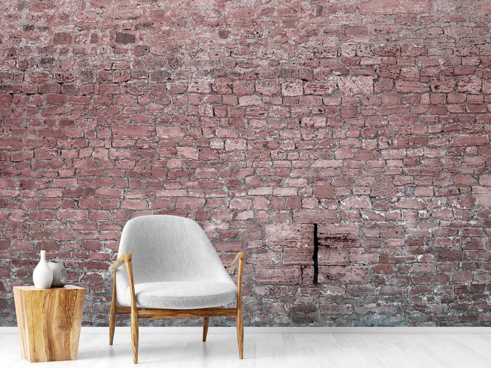 Steen behang - Muur van oude stenen - Tienerkamer 18