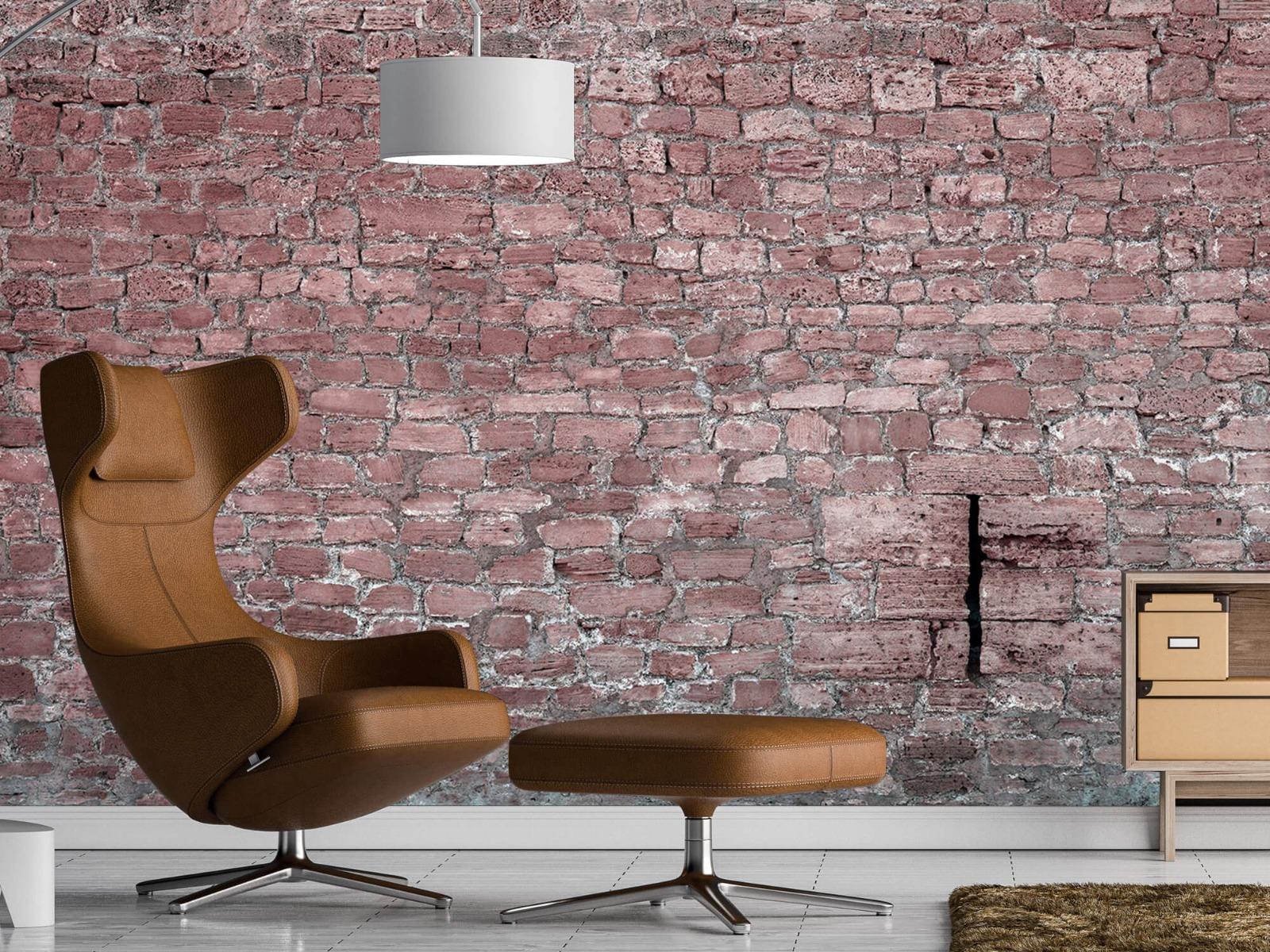 Steen behang - Muur van oude stenen - Tienerkamer 19