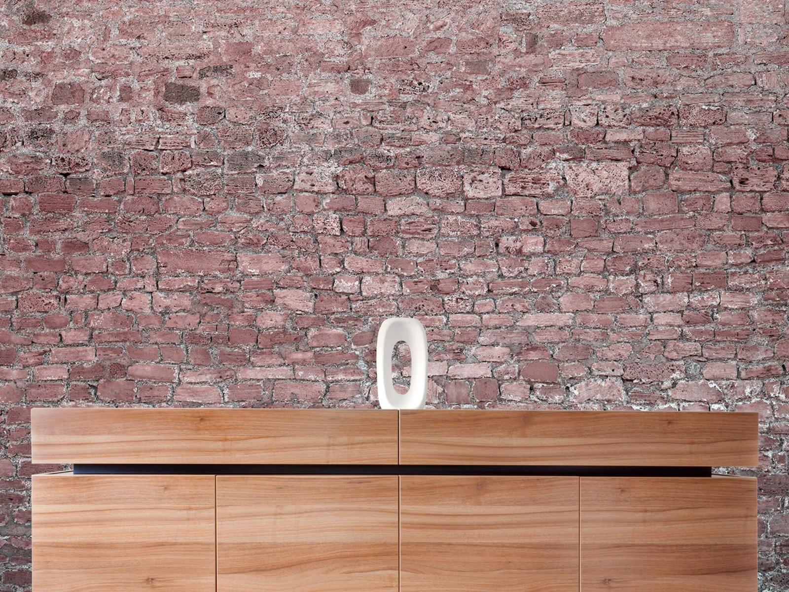 Steen behang - Muur van oude stenen - Tienerkamer 20