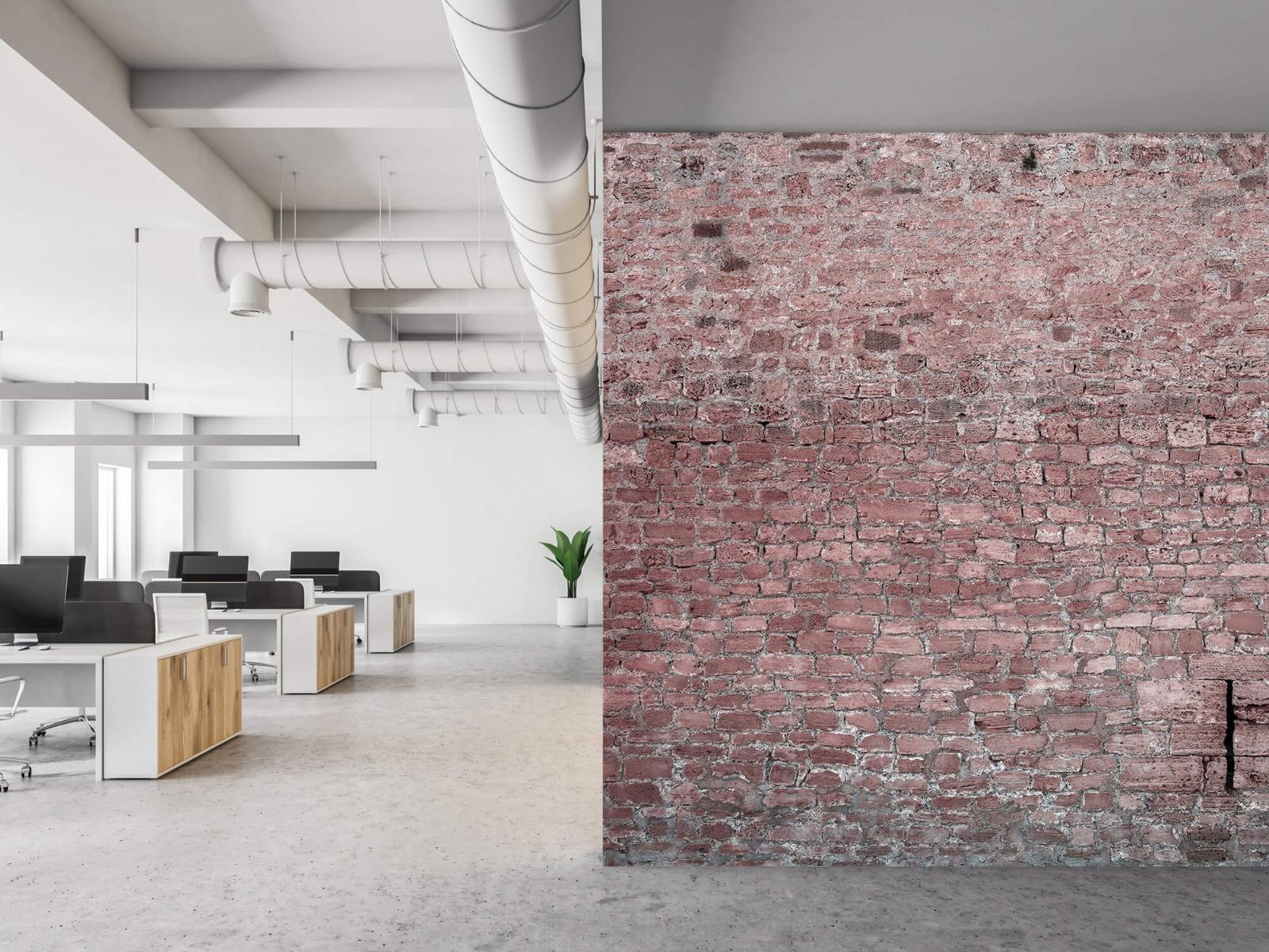 Steen behang - Muur van oude stenen - Tienerkamer 21