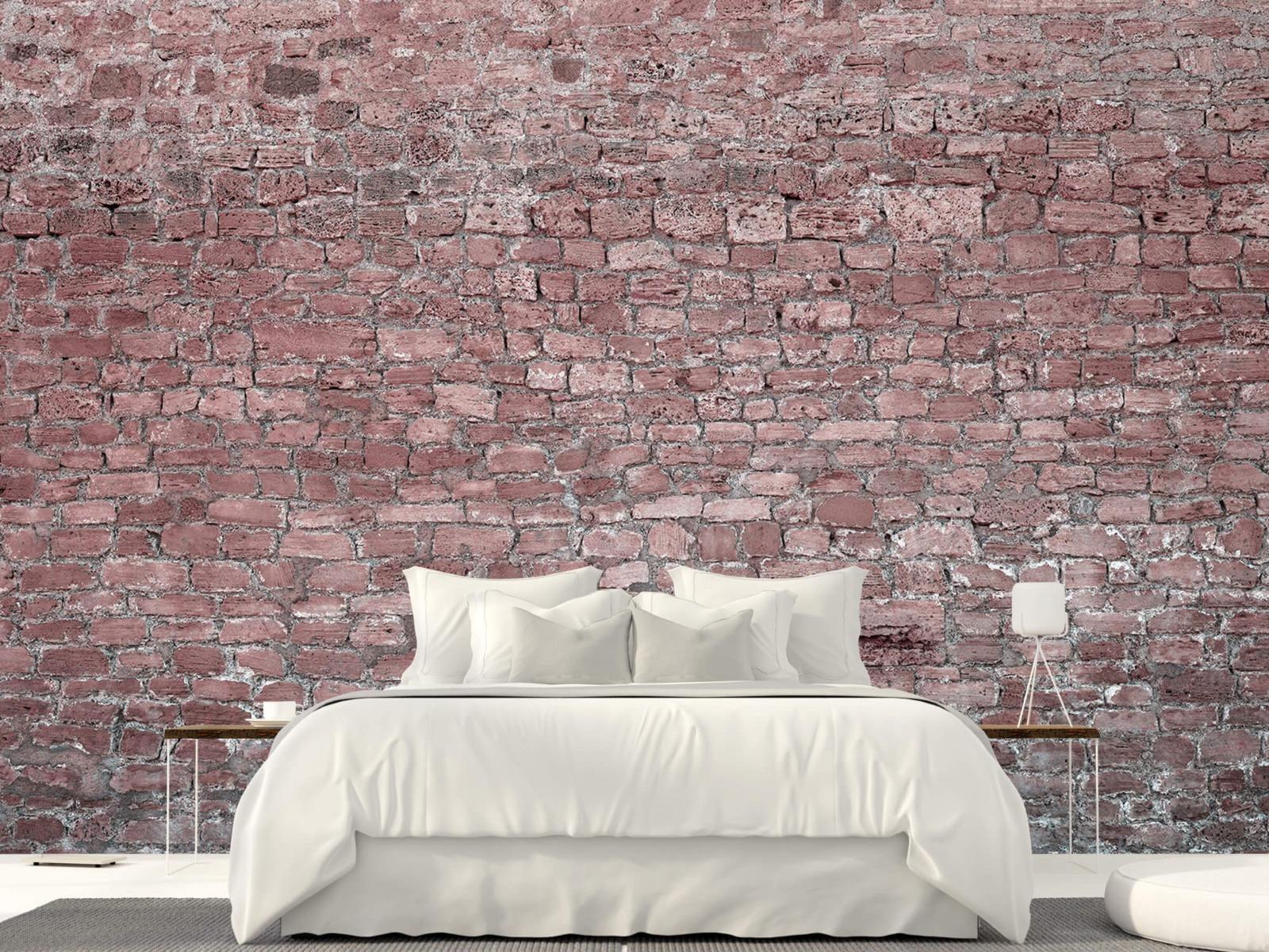 Steen behang - Muur van oude stenen - Tienerkamer 23