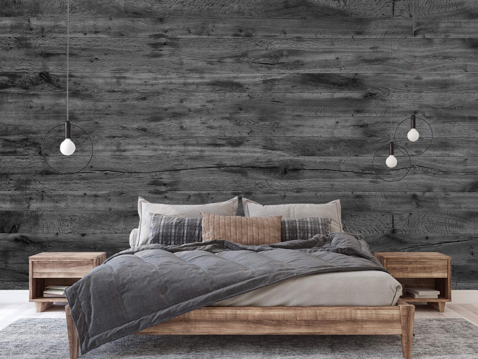Hout behang - Grijze houten planken - Directie 4