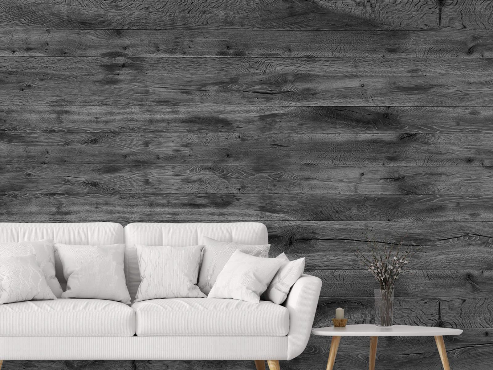 Hout behang - Grijze houten planken - Directie 5