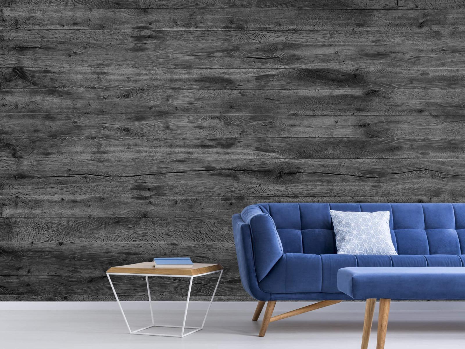 Hout behang - Grijze houten planken - Directie 7