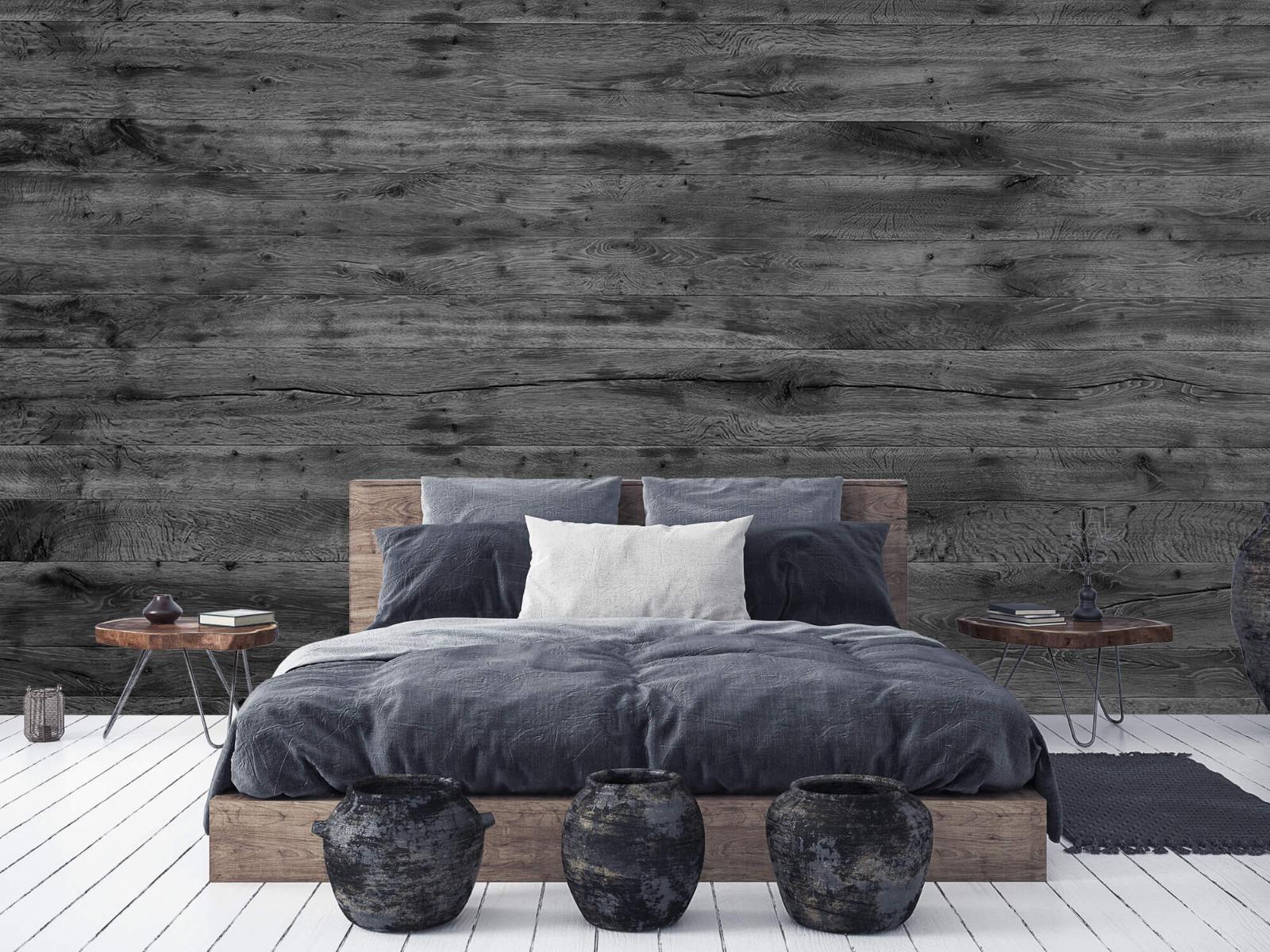 Hout behang - Grijze houten planken - Directie 8