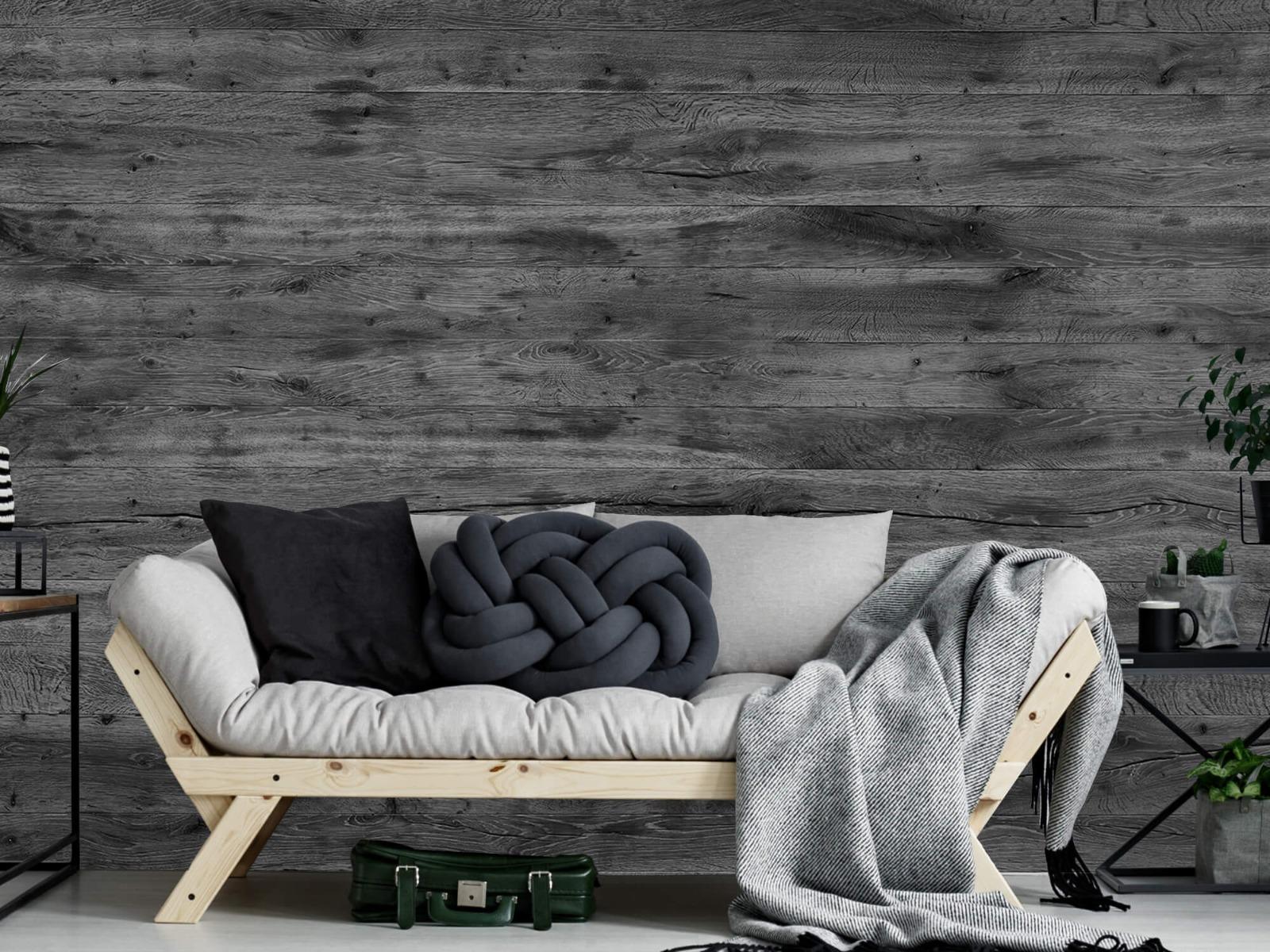 Hout behang - Grijze houten planken - Directie 1