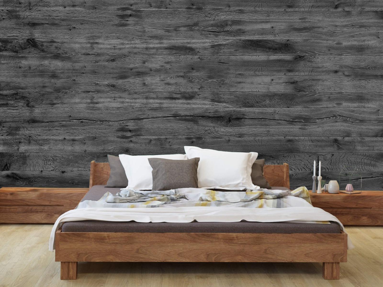 Hout behang - Grijze houten planken - Directie 9