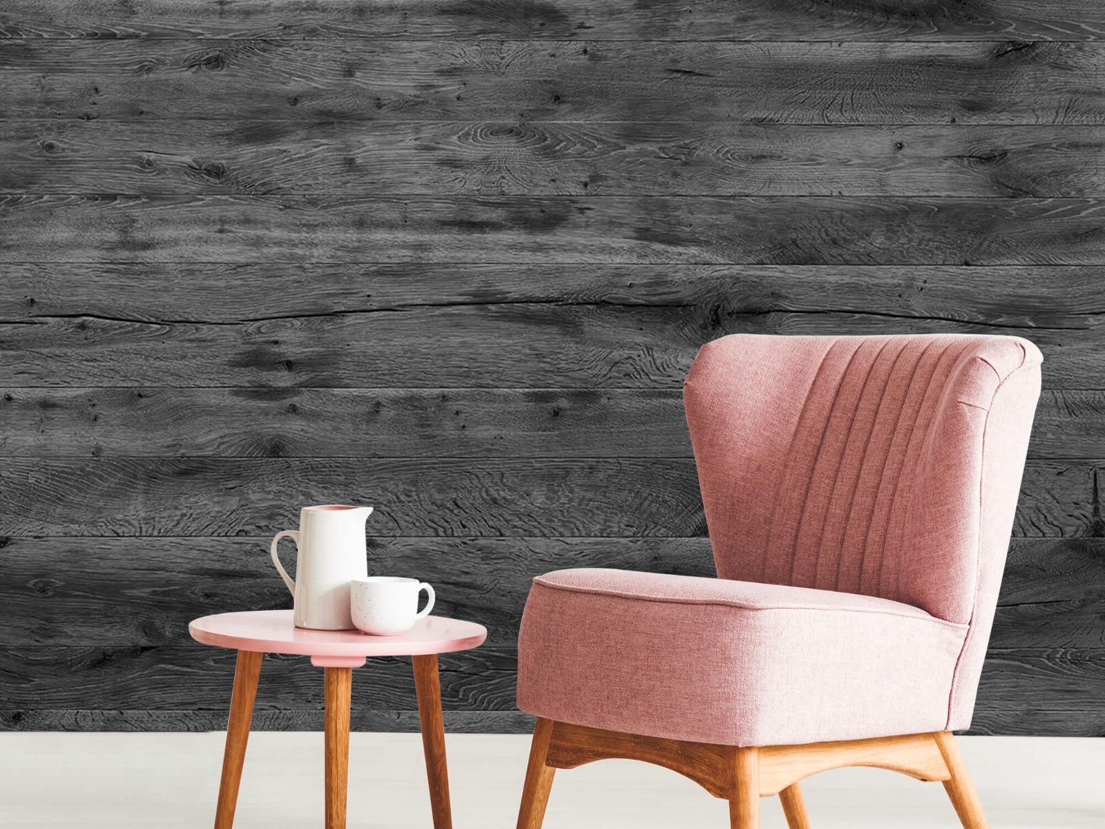 Hout behang - Grijze houten planken - Directie 10